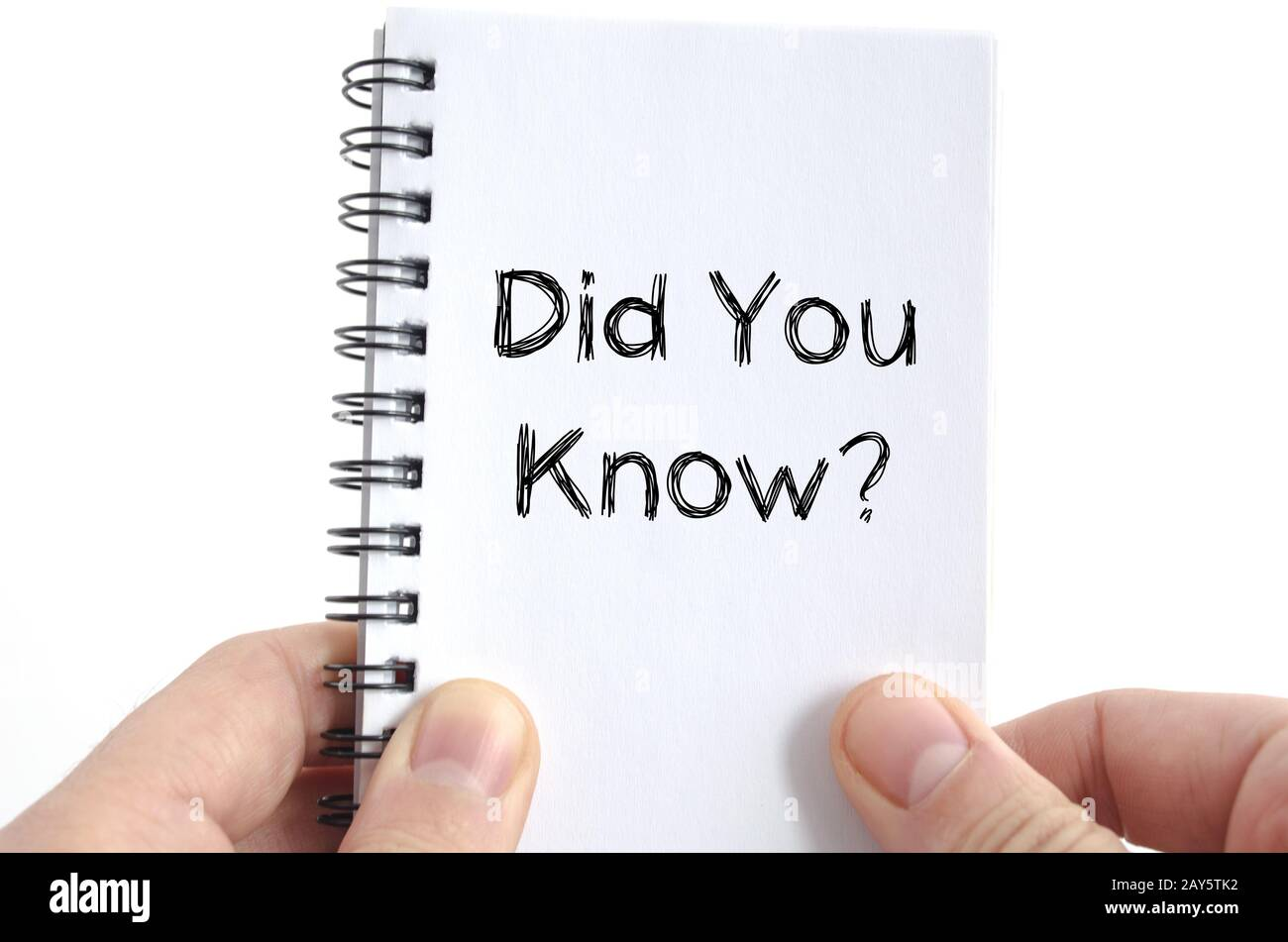 Did you know text concept Stock Photo