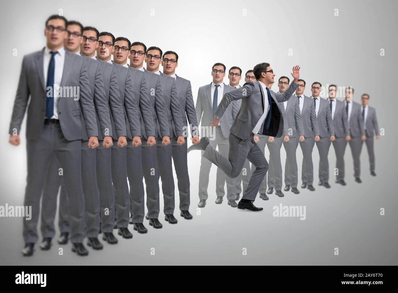 Standing out from the crown concept with businessman Stock Photo