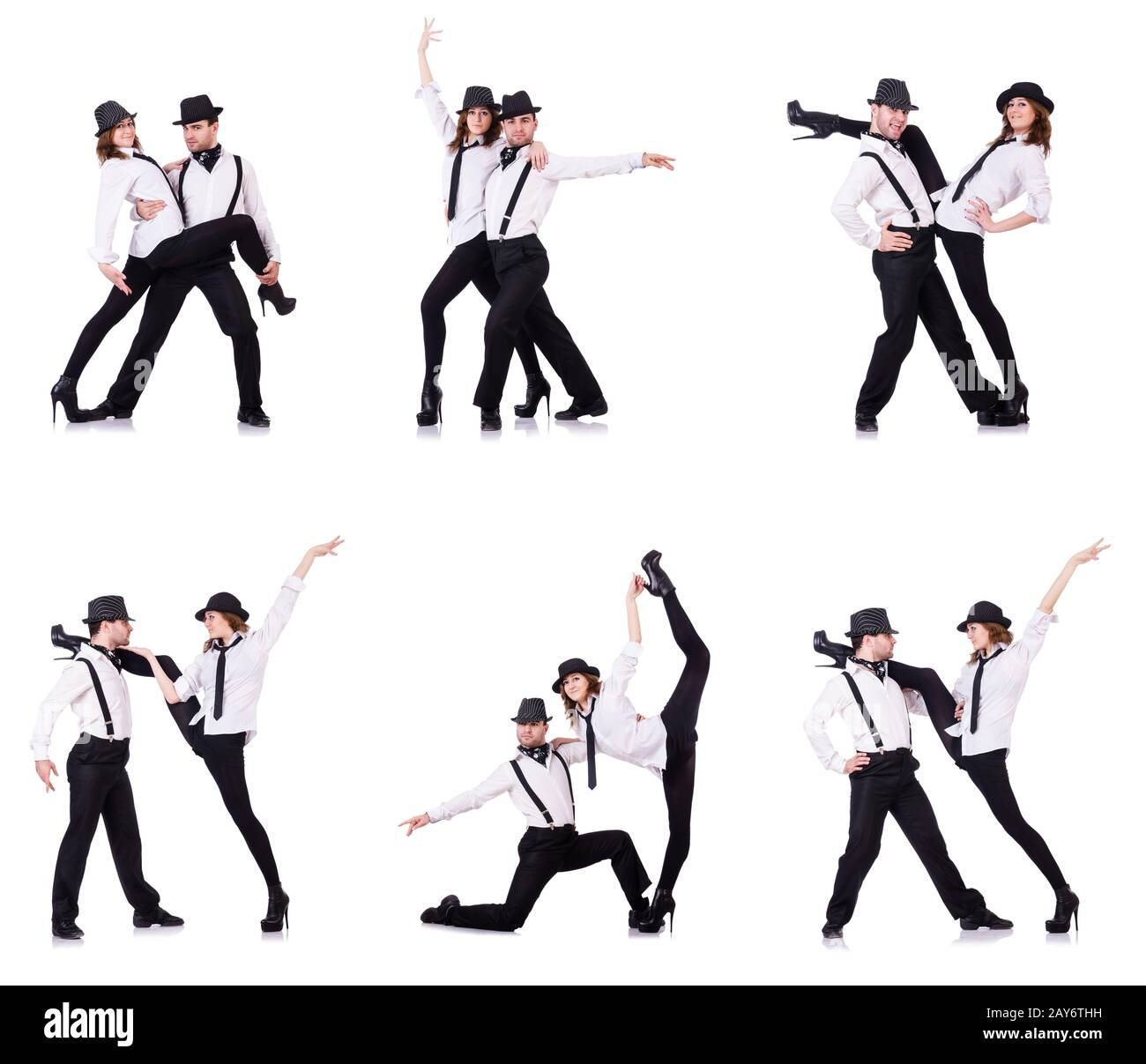 Pair of dancers dancing modern dances Stock Photo