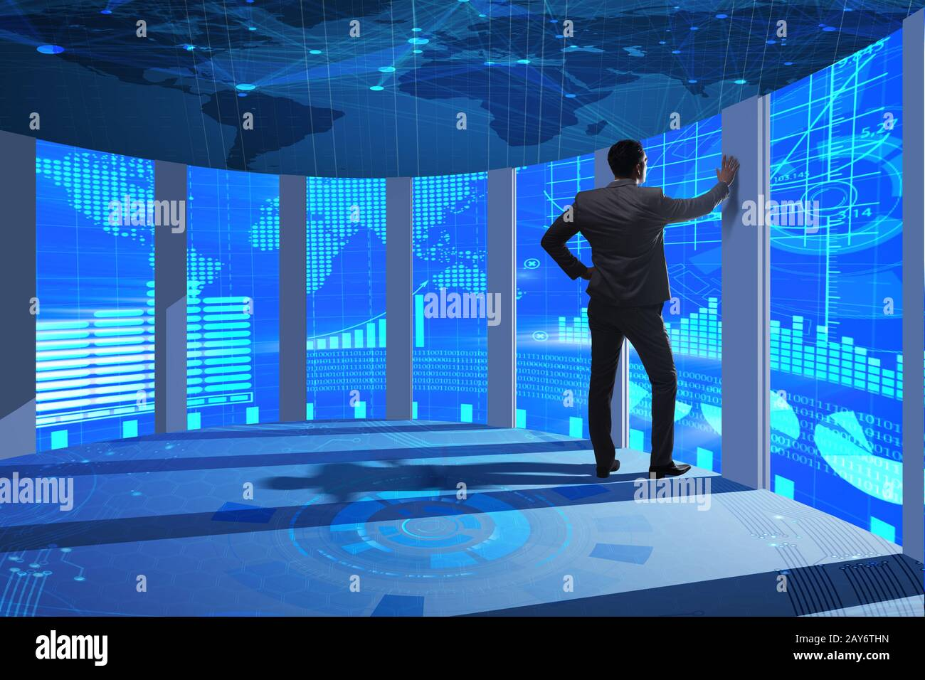 Businessman in business trading concept Stock Photo