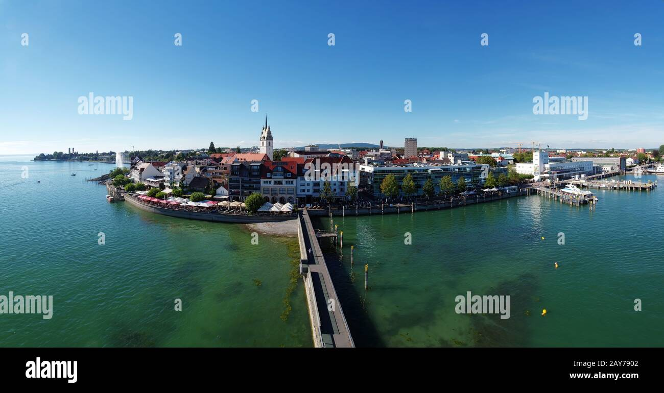 View from the observation tower - Friedrichshafen Stock Photo