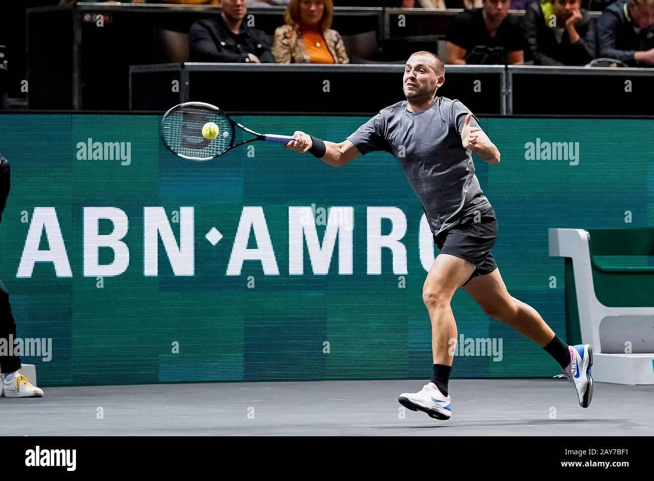 ROTTERDAM, ABN AMRO World Tennis Tournament, 14-02-2020, Ahoy Rotterdam,  Dan Evans (GBR) Credit: Pro Shots/Alamy Live News Stock Photo - Alamy