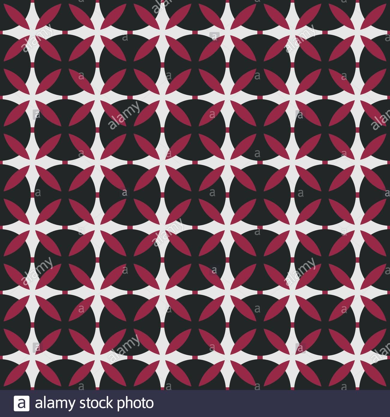 Repeatable Retro Geometric Pattern Fabric Print Design For