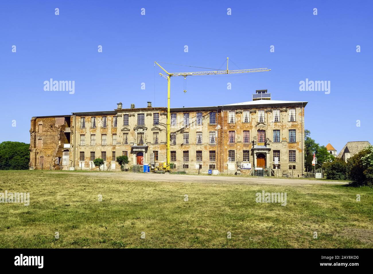 Ruins of the east wing of Zerbst Castle, Zerbst/Anhalt, Saxony-Anhalt, Germany Stock Photo