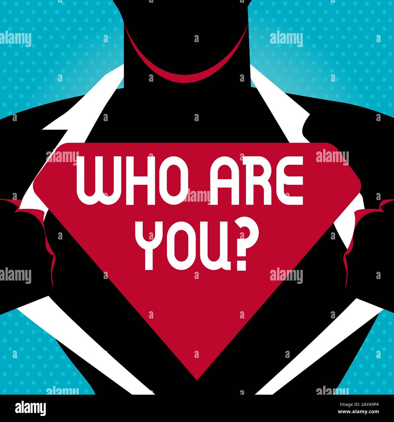Text sign showing Who Are You question. Conceptual photo asking about demonstrating identity or demonstratingal information Man Stock Photo