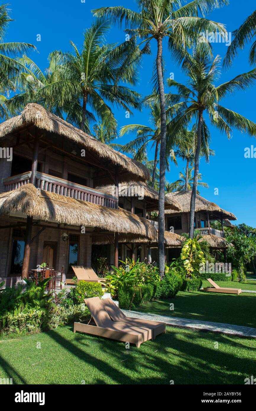Coral View Villas Hotel Situated In Lipah Bay Amed East Bali Indonesia Stock Photo Alamy