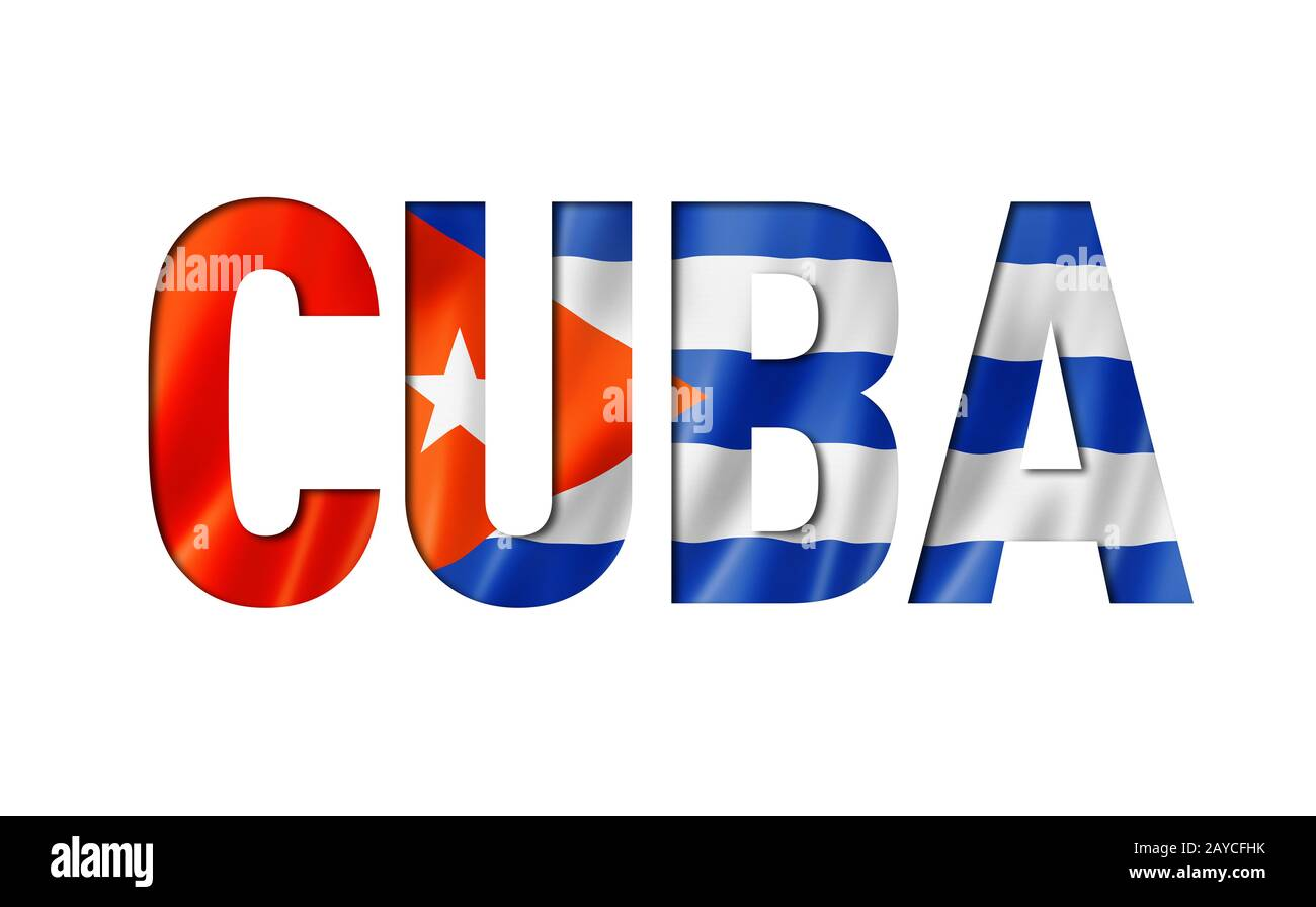cuban flag text font Stock Photo - Alamy