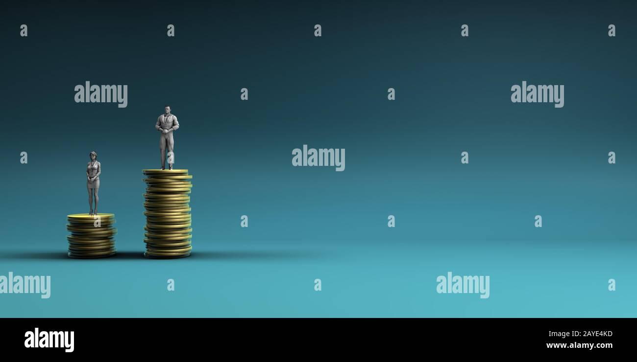 Income Inequality Stock Photo