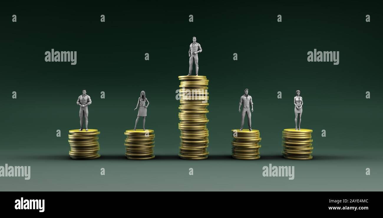 Economic Inequality Stock Photo