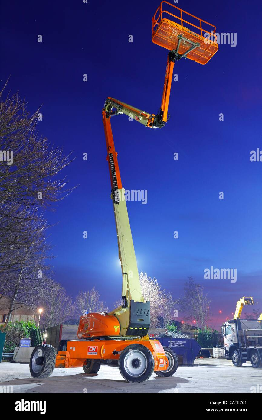 JLG 1250 AJP Ultra Boom work platform, for working at heights Stock Photo