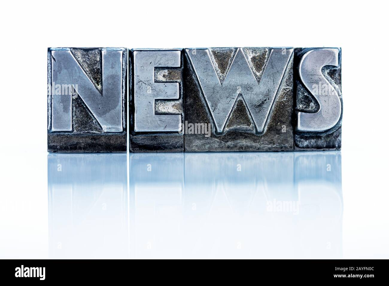 News - Blog - Bleibuchstaben Stock Photo