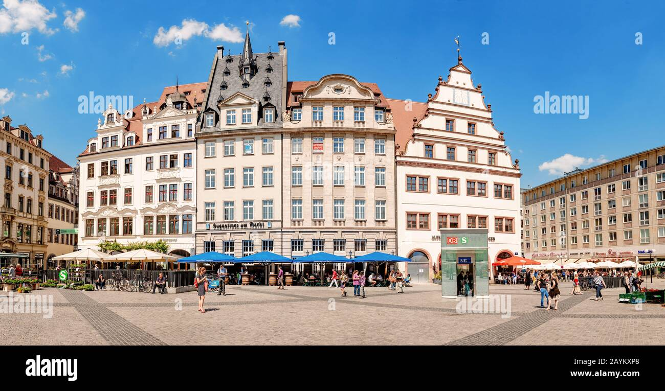 Leipzig Germany May 21 2018 Main Square In Leipzig With Fair Market Stock Photo Alamy