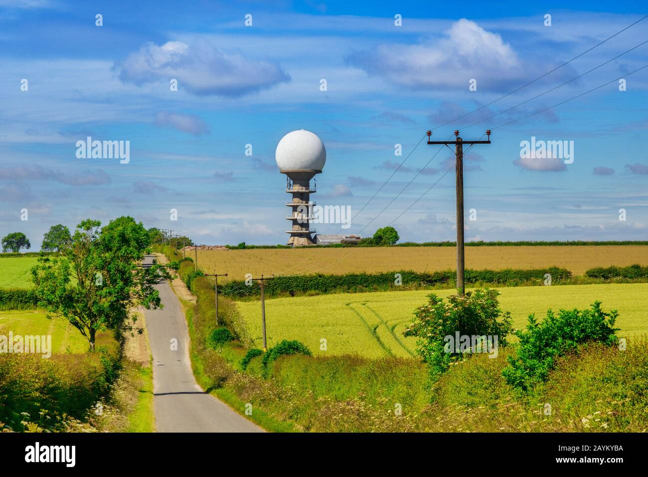 5 July 2019: Normanby Le Wolds Lincolnshire, UK - Claxby National Air Traffic Services(NATS) in the Lincolnshire countryside. Stock Photo
