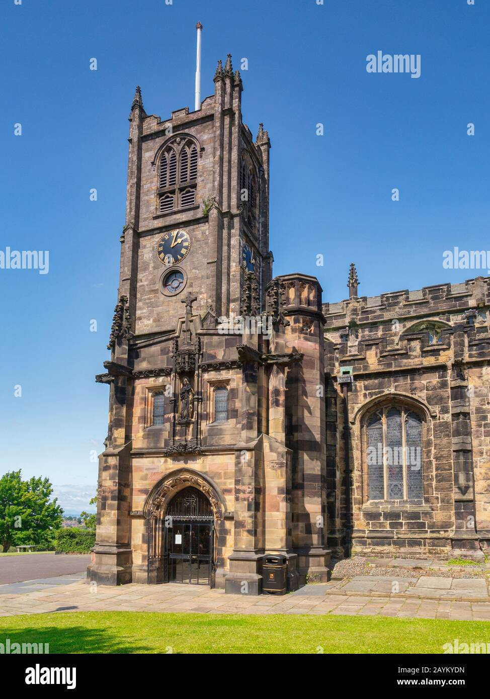 Lancaster Priory, the Priory Church of St Mary, Lancashire, UK Stock Photo