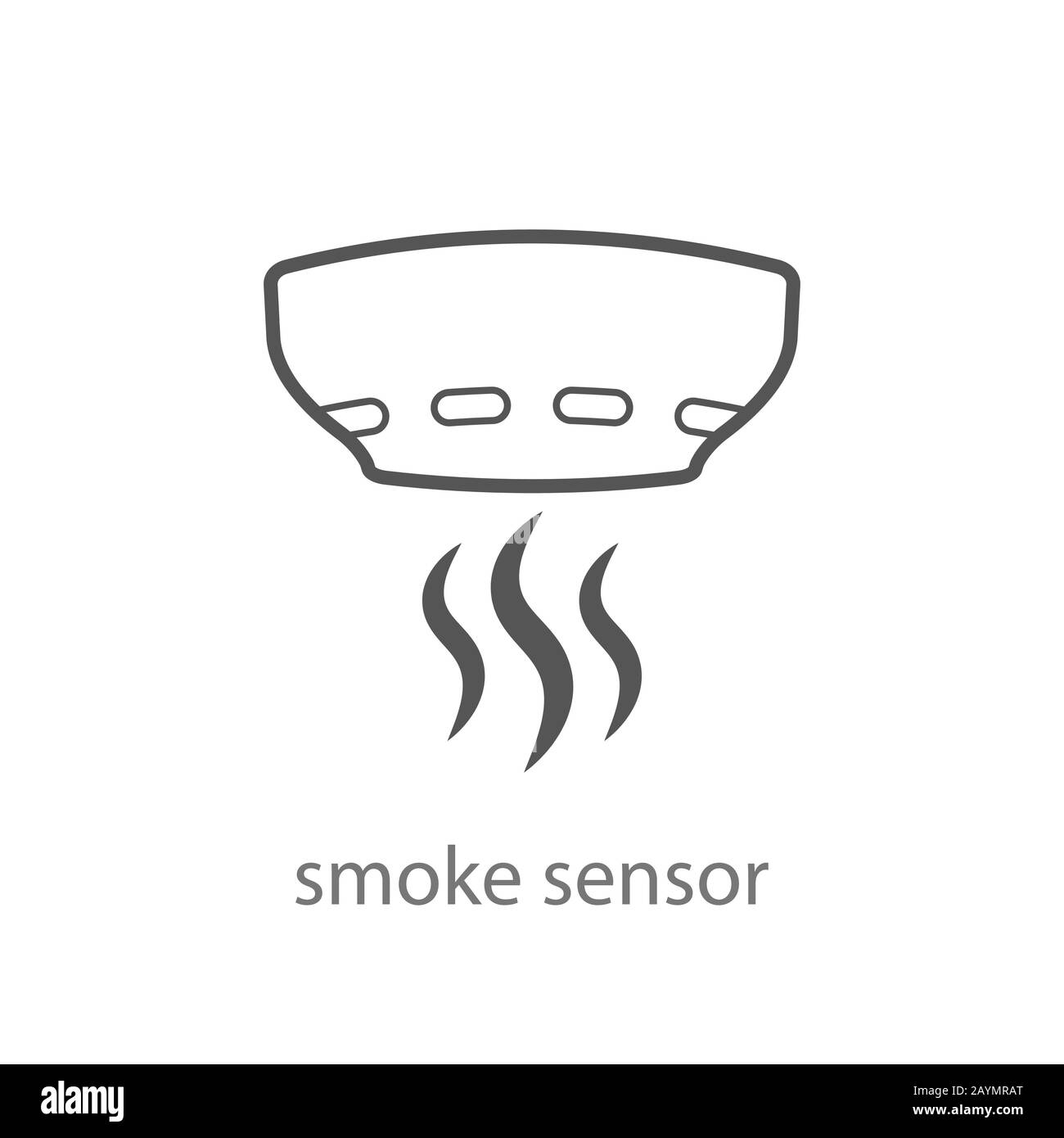 Smoke Alarm System Vector Linear Symbol Isolated On White Background Vector Illustration Eps 10 Stock Vector Image Art Alamy