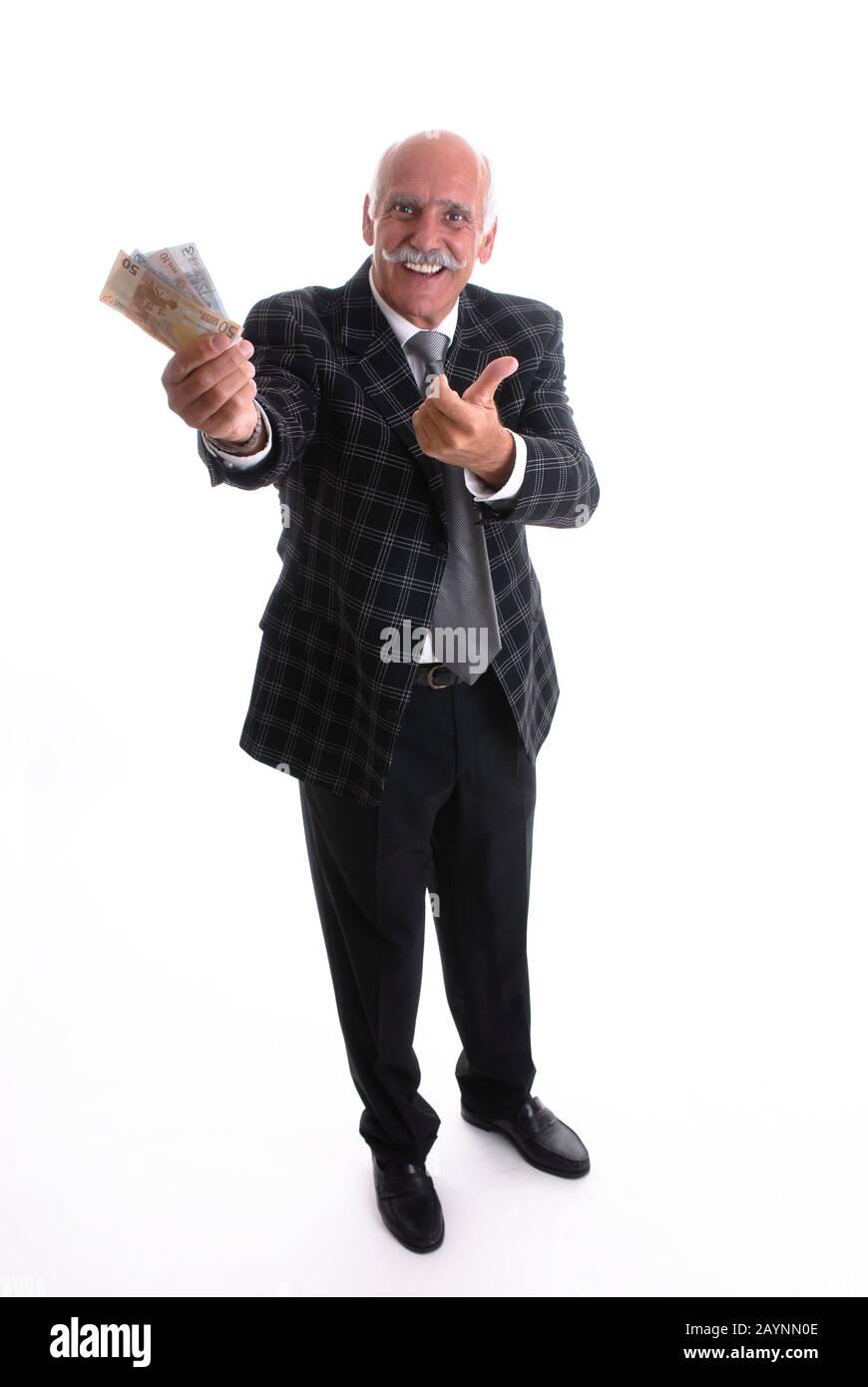 Glücklicher Rentner Stock Photo