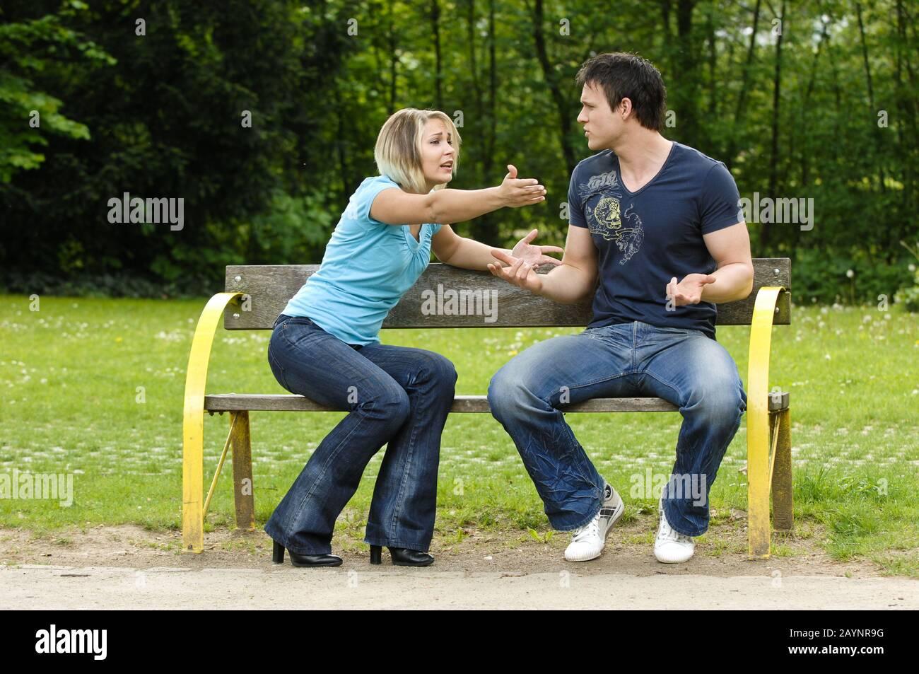 Paar im Streit Stock Photo
