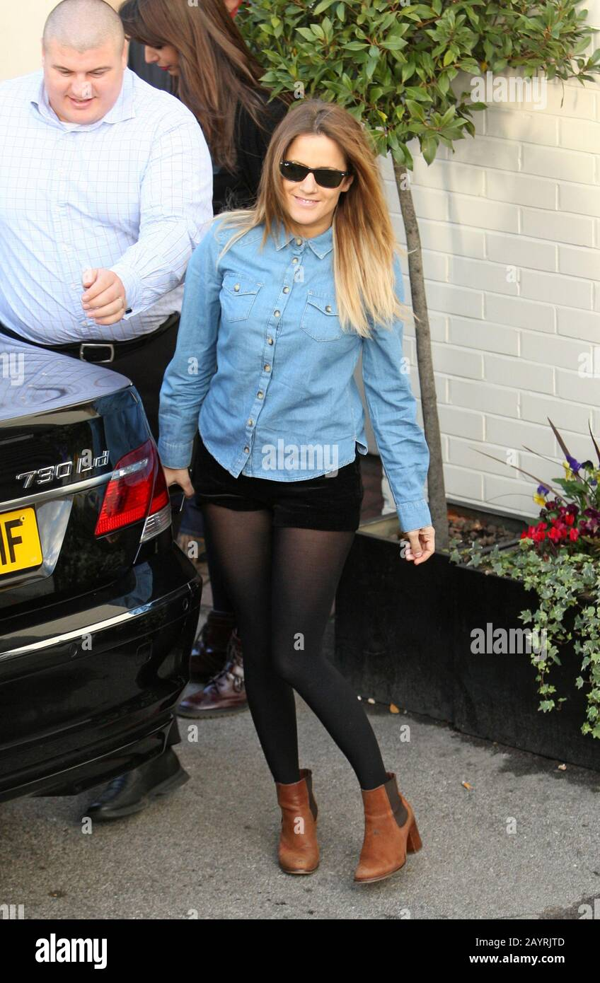 FILE: Caroline Flack found dead at 40 after committing suicide on Feb 14th. London, UK. 03rd Dec, 2011. LONDON, ENGLAND - DECEMBER 03: X Factor's Caroline Flack arriving at North London's Fountain Studios, ahead of tonight's semi-final performance. Stock Photo