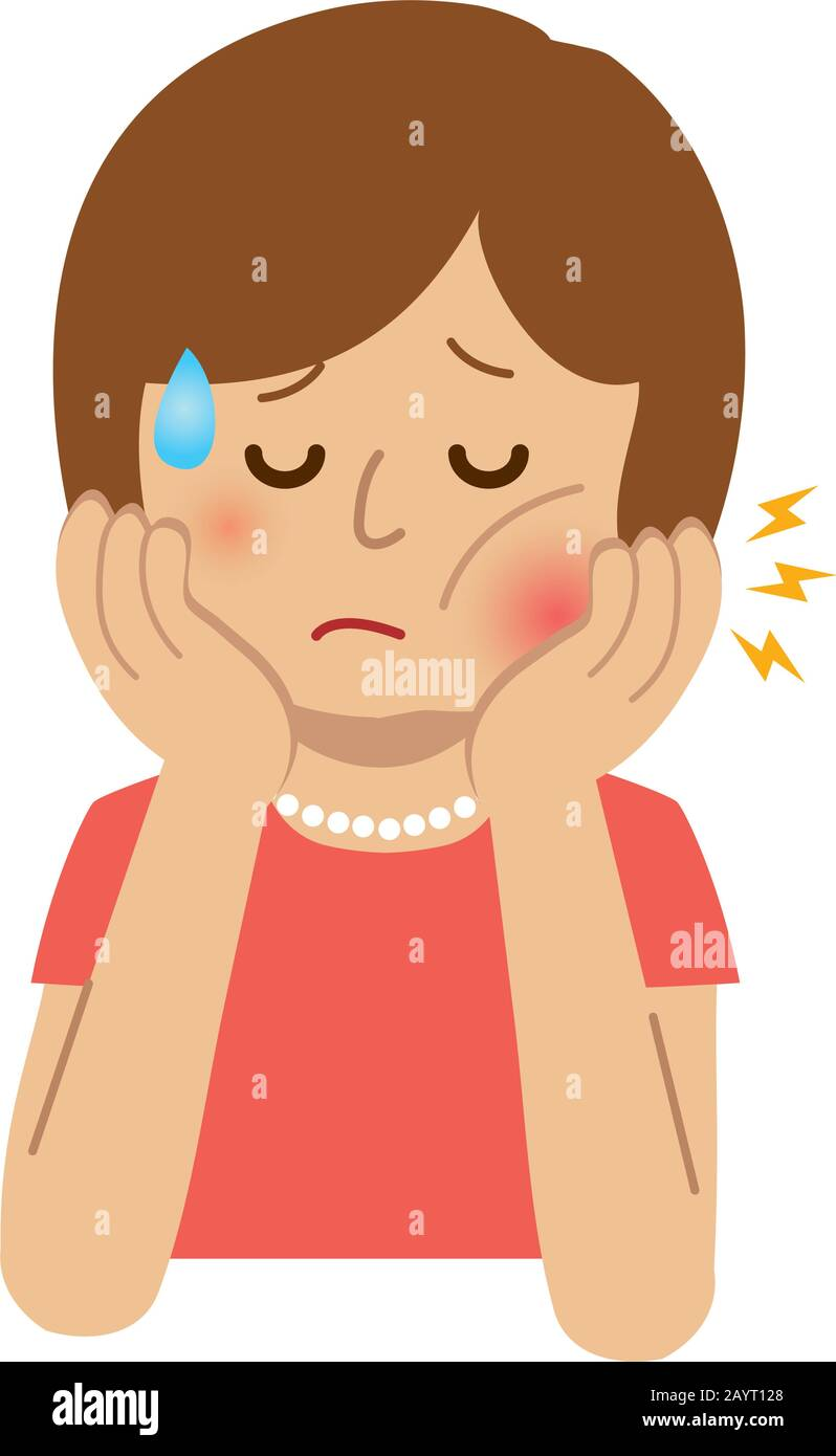 Woman With Toothache Illustration Stock Vector Image Art Alamy