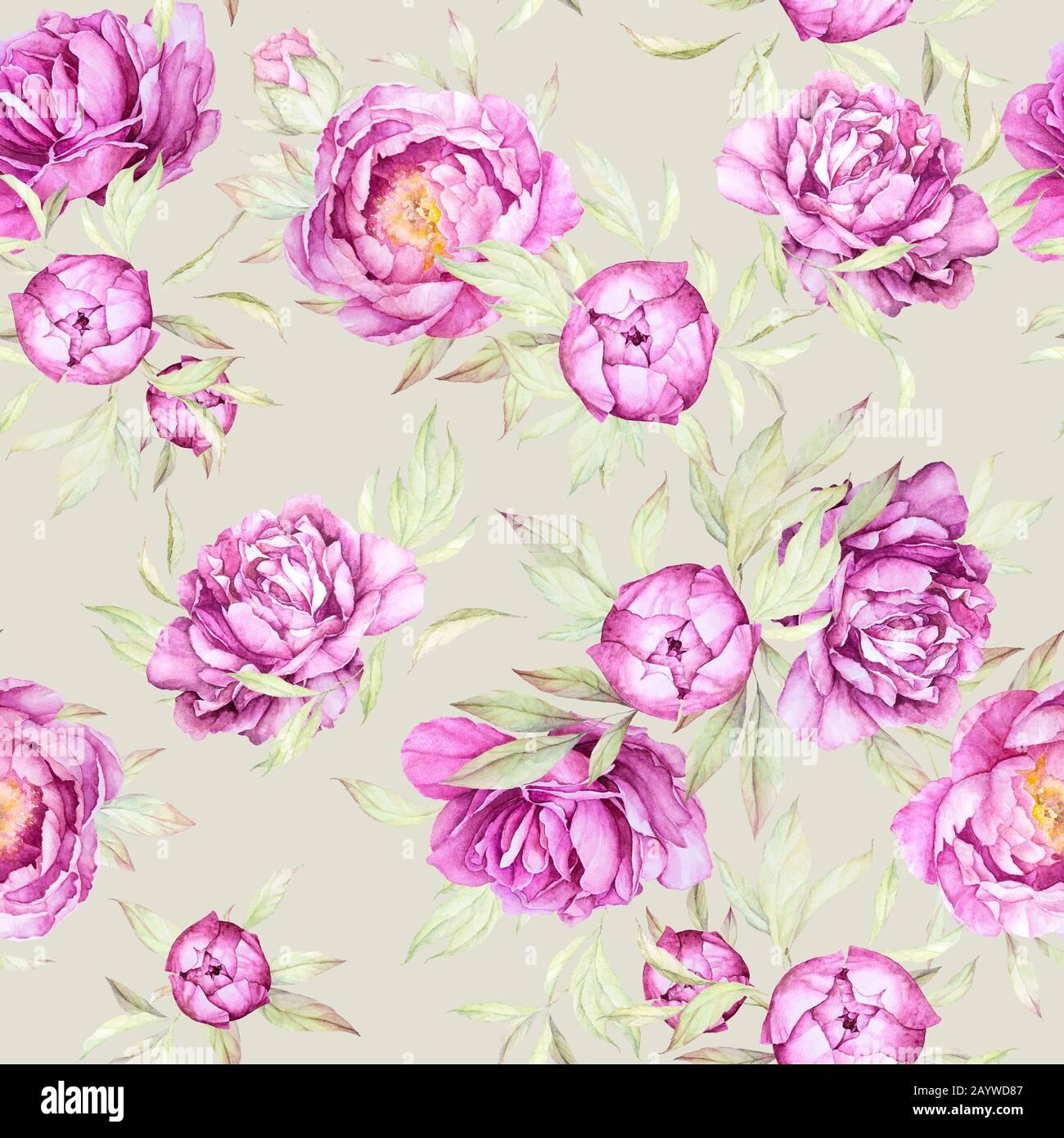 Wallpaper Designer Pastel Watercolor Floral Hydrangea Flowers Pink Blue Green