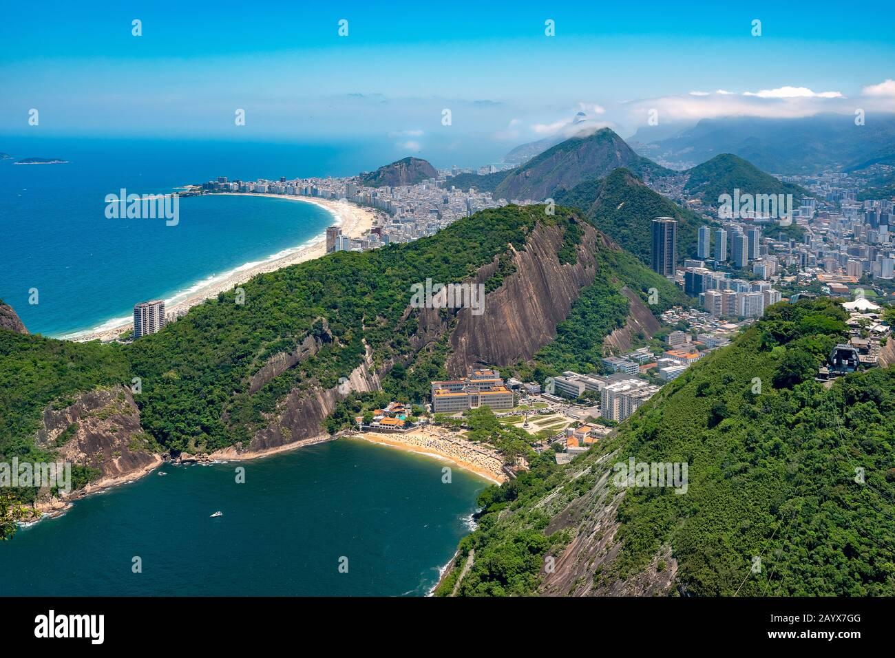 View from Sugar Loaf, Rio de Janeiro, Brazil Stock Photo