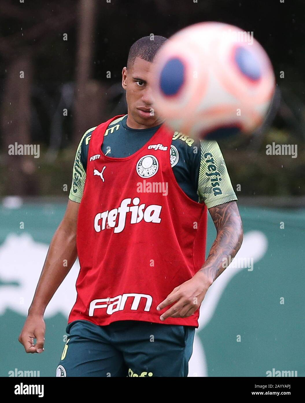 Sao Paulo Brazil 17th Feb 2020 Player Lucas Esteves From Se Palmeiras During Training At The Football Academy Credit Foto Arena Ltda Alamy Live News Stock Photo Alamy