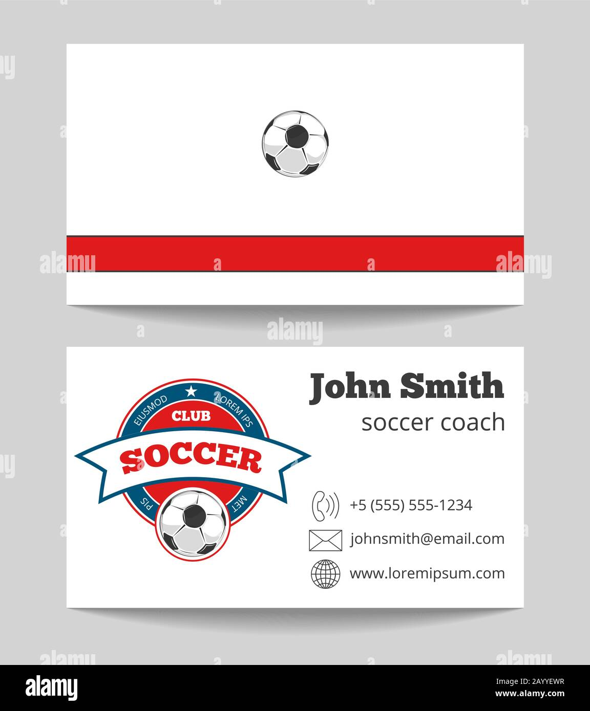 Soccer coach business card template with logo. Football trainer Inside Soccer Referee Game Card Template