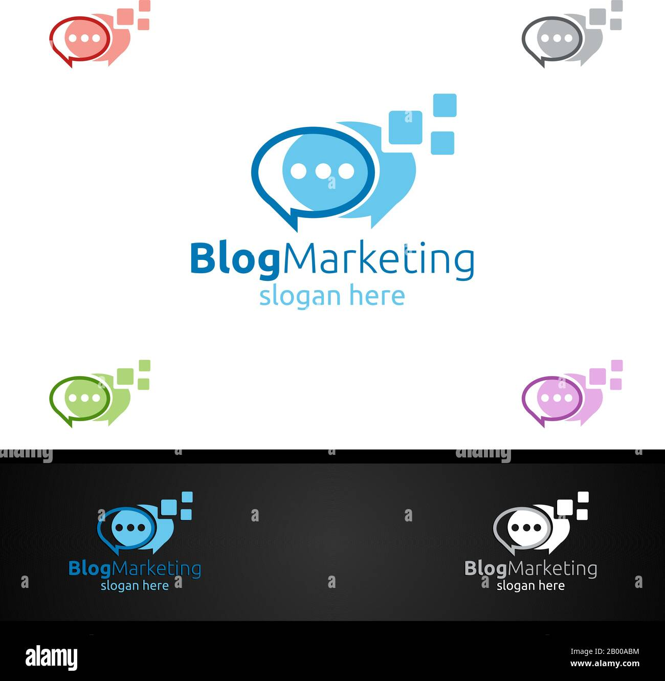 blog digital marketing financial advisor vector logo design template icon stock vector image art alamy alamy