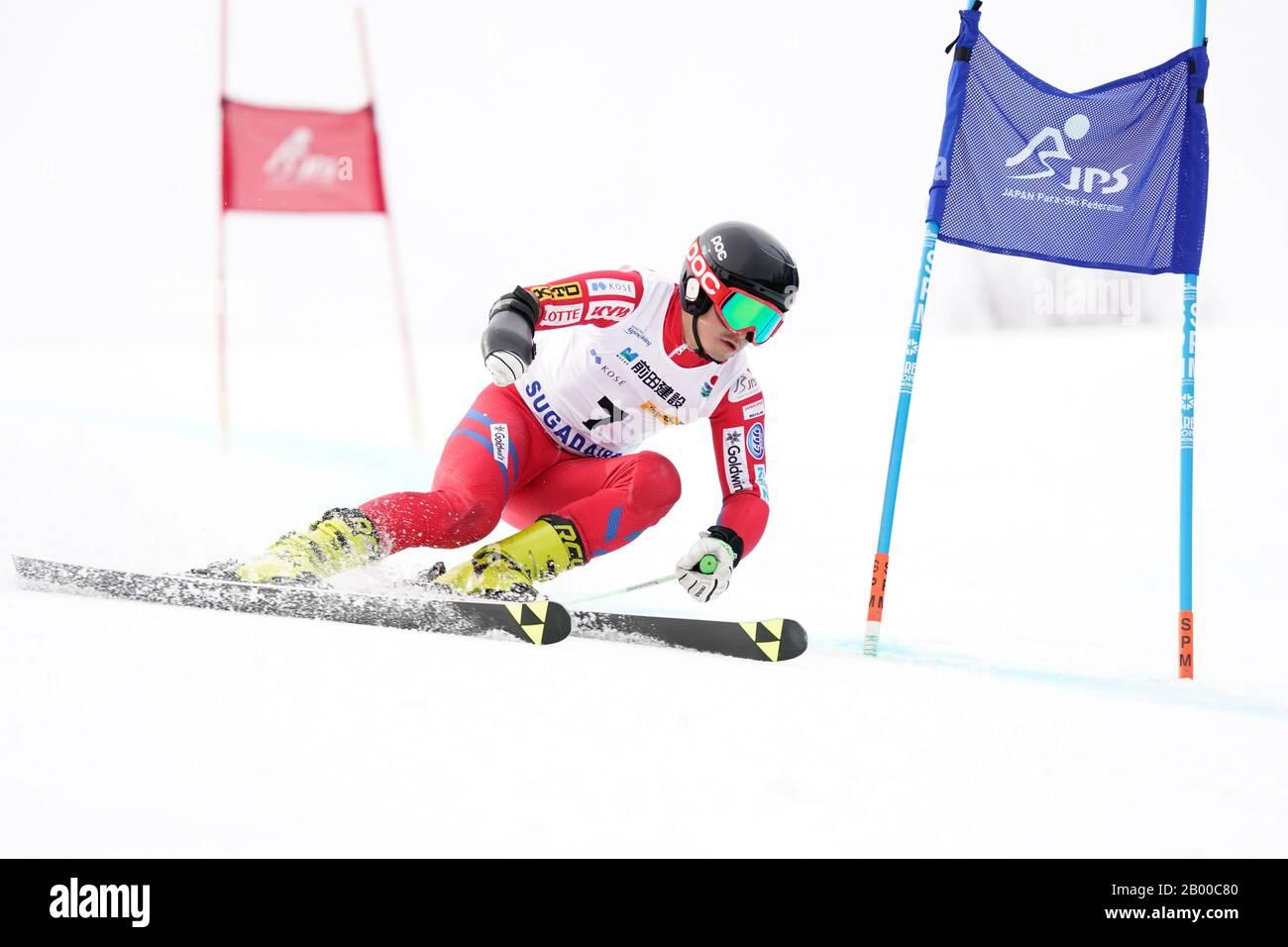 Ueda, Nagano, Japan. 14th Feb, 2020. Kohei Takahashi (JPN), February 14, 2020 - Alpine Skiing : Men's Giant Slalom Standing at Sugadaira Pine Beak during 2020 World Para Alpine Skiing Asia Cup in Ueda, Nagano, Japan. Credit: SportsPressJP/AFLO/Alamy Live News Stock Photo