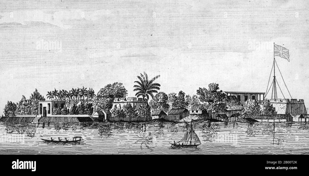 Antique Print 1843 INDIA The Harbour of Bombay