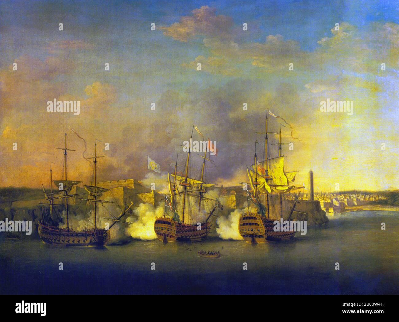 7 YEARS WAR BRITISH CAPTURE OF HAVANA CUBA SPAIN PAINTING ART REAL CANVAS PRINT