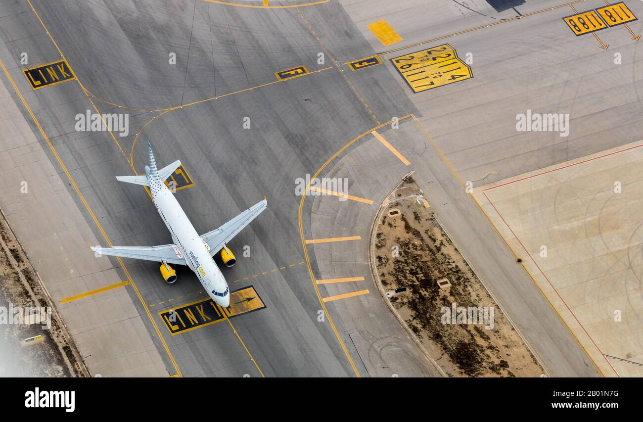 Aeroport de Palma, 09.01.2020, aerial photo, Spain, Balearic Islands, Majorca, Palma Stock Photo