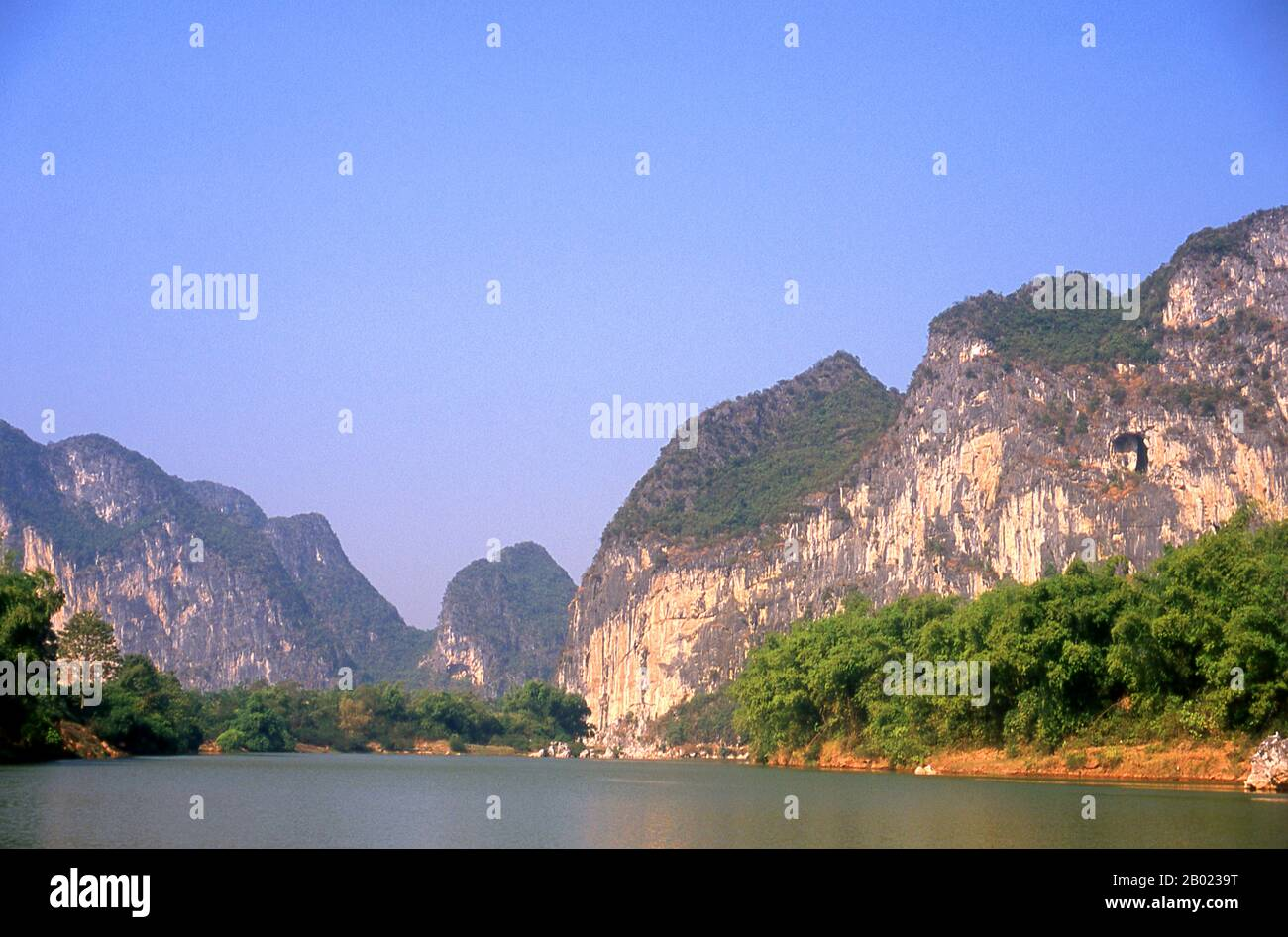 The Zuojiang or Zuo River (Chinese: 左江; pinyin: ZuǒJiāng; literally 'Left River') is a river in Guangxi Province, southern China. It flows into the South China Sea. Stock Photo