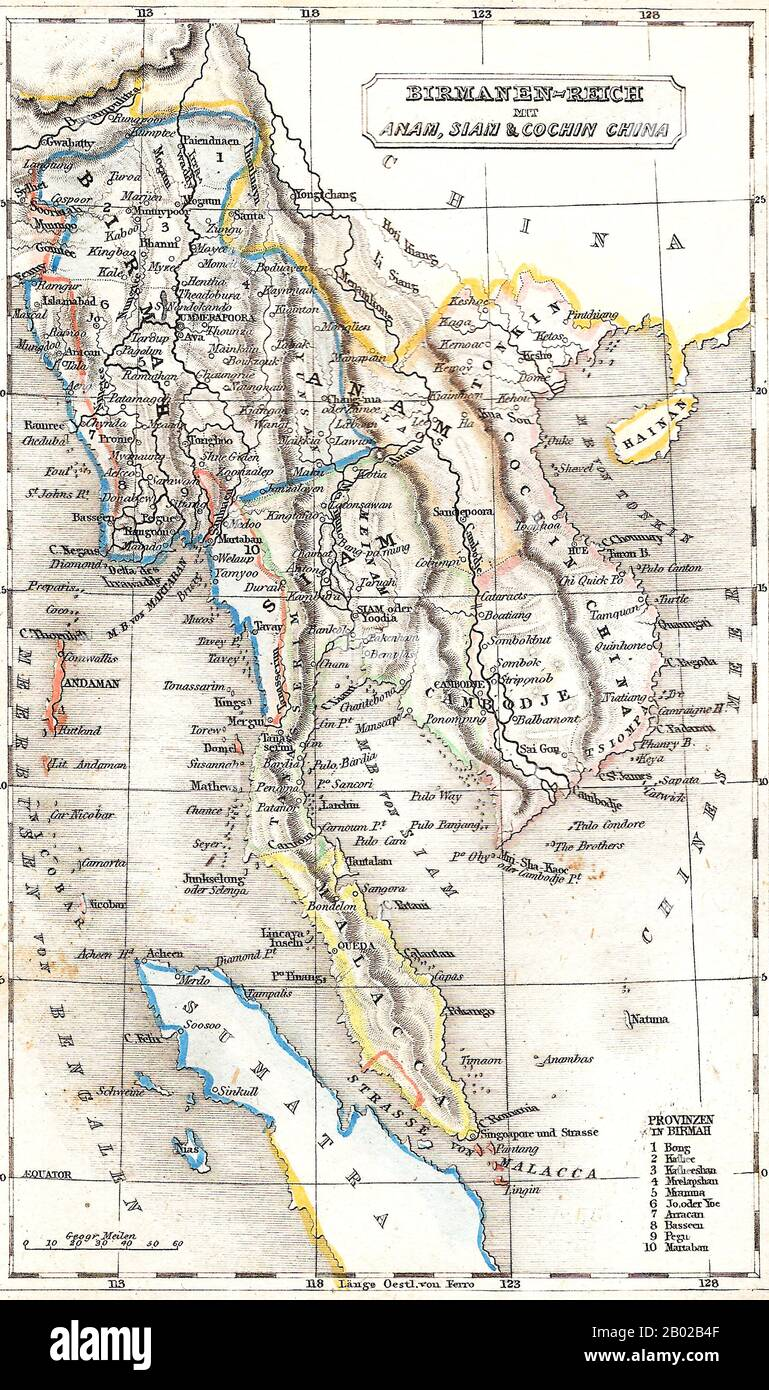 Picture of: A German Map Of Mainland Southeast Asia Showing Assam Burma Thailand Vietnam Laos Cambodia Peninsular Malaysia Singapore And Part Of Sumatra The Tanintharyi Or Tenasserim Region Of Southern Myanmar Is Shown As