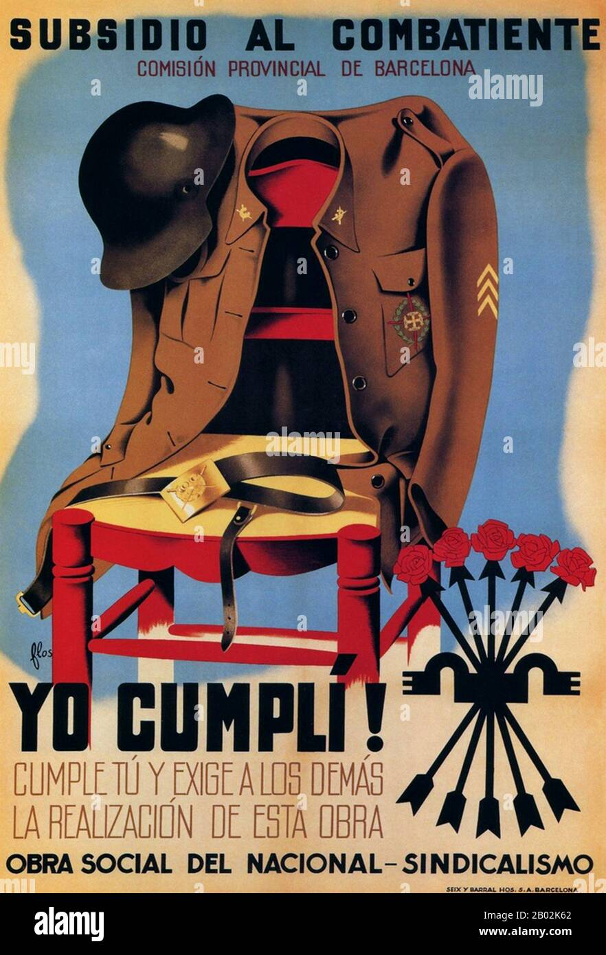 El Generalisimo Spanish Civil War Vintage WW2 Poster