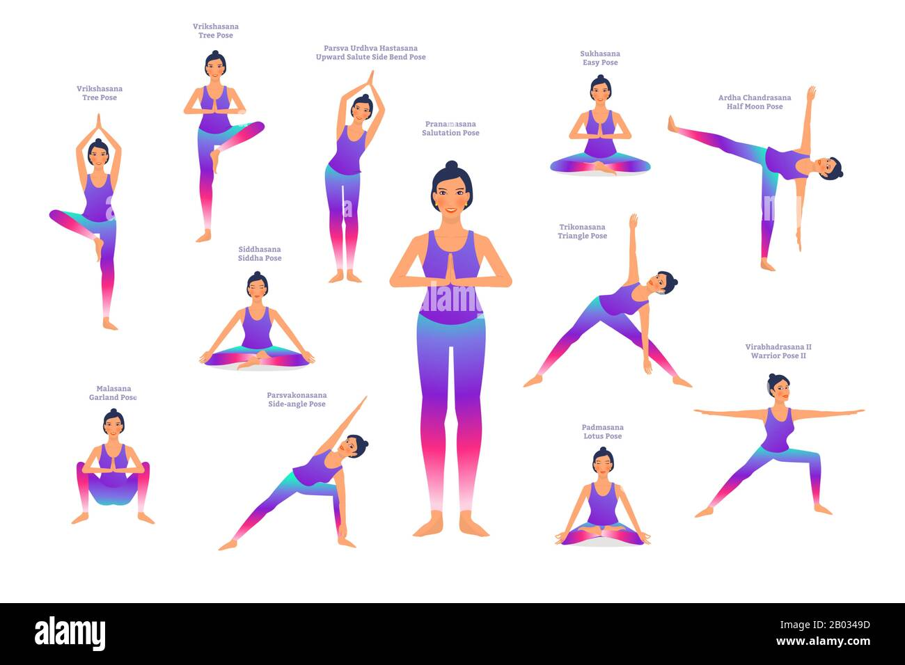 Yoga Poses Names In English