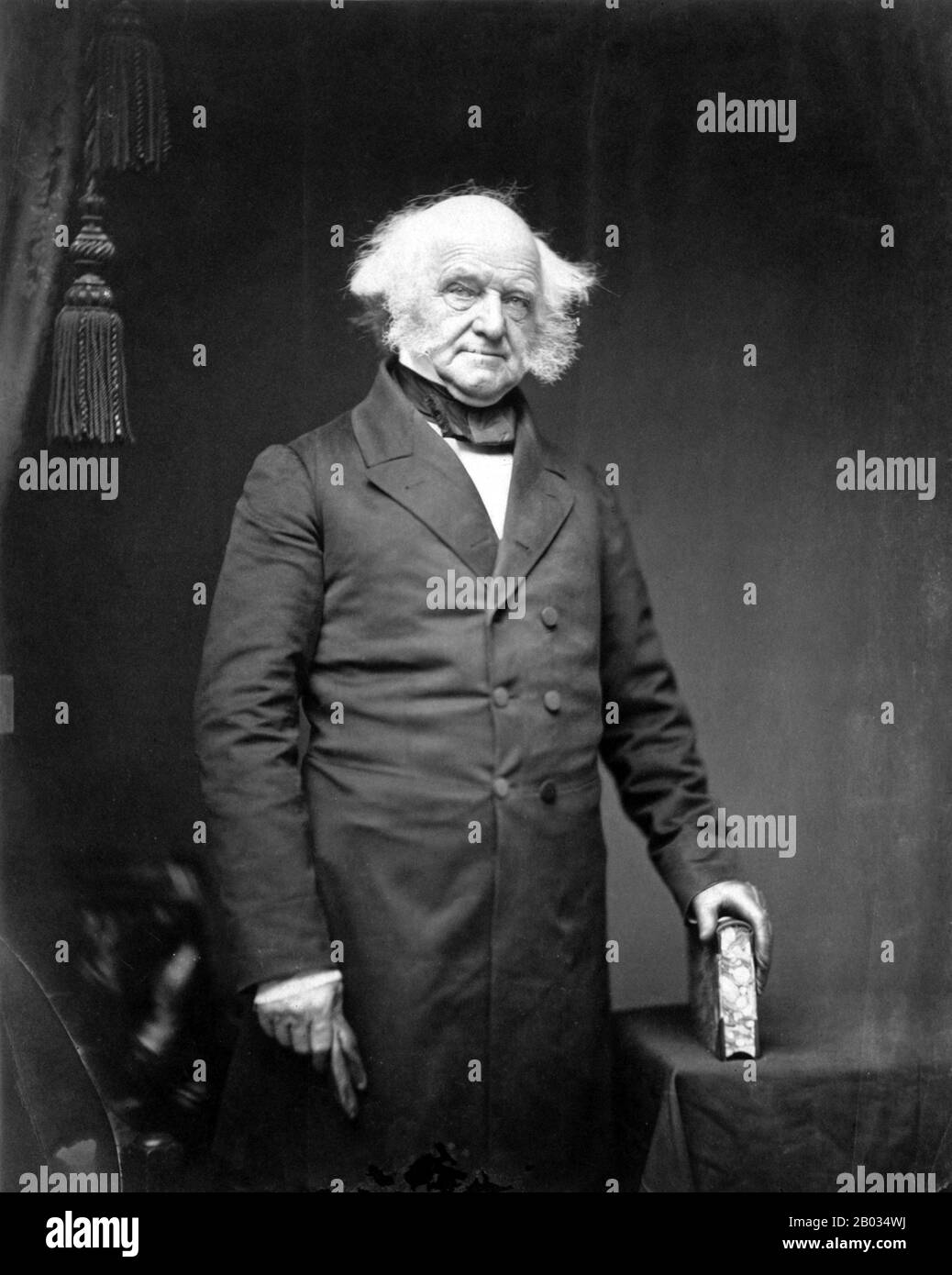 Martin Van Buren (December 5, 1782 – July 24, 1862) was an American politician who served as the eighth President of the United States (1837–41).  A member of the Democratic Party, he served in a number of senior roles, including eighth Vice President (1833–37) and tenth Secretary of State (1829–31), both under Andrew Jackson. Stock Photo