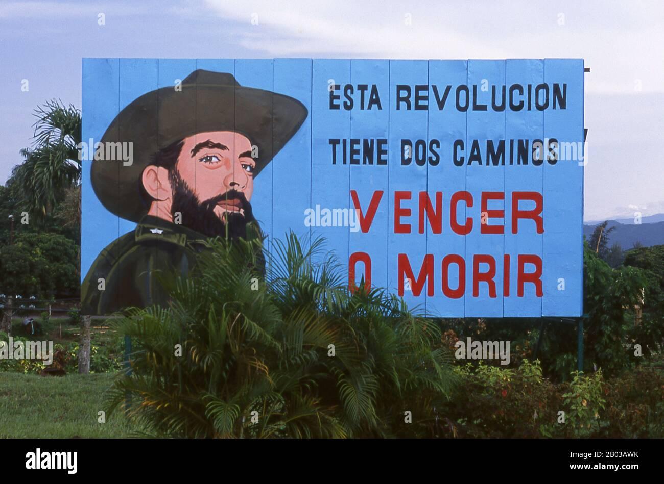 Camilo Cienfuegos Gorriaran February 6 1932 October 28 1959 Was A Cuban Revolutionary Born In Lawton Havana Raised In An Anarchist Family That Had Left Spain Before The Spanish Civil War