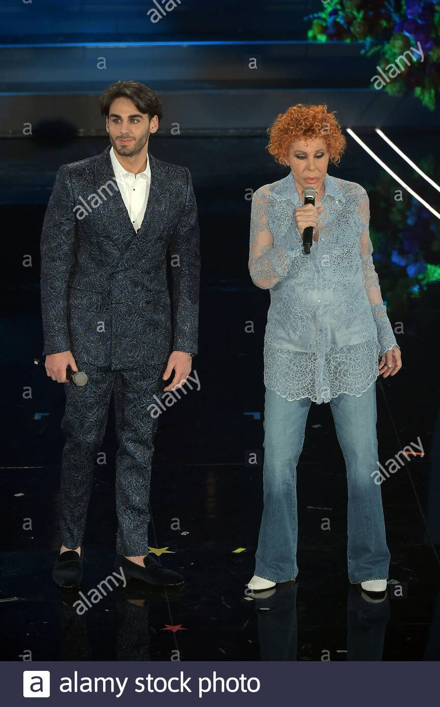 Alberto Urso, Ornella Vanoni  sanremo, 08-02-2020 Stock Photo