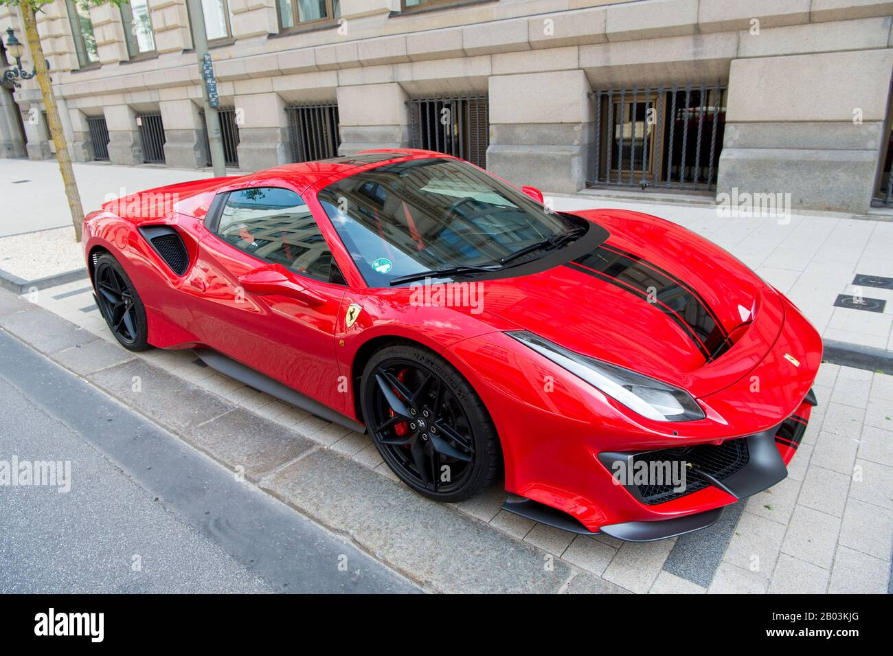 Hamburg Germany July 27 2019 Supercar Red Ferrari 488 Pista Parked At The Street In Hamburg Germany Lamborghini Is Famous Expensive Automobile Brand Car Stock Photo Alamy