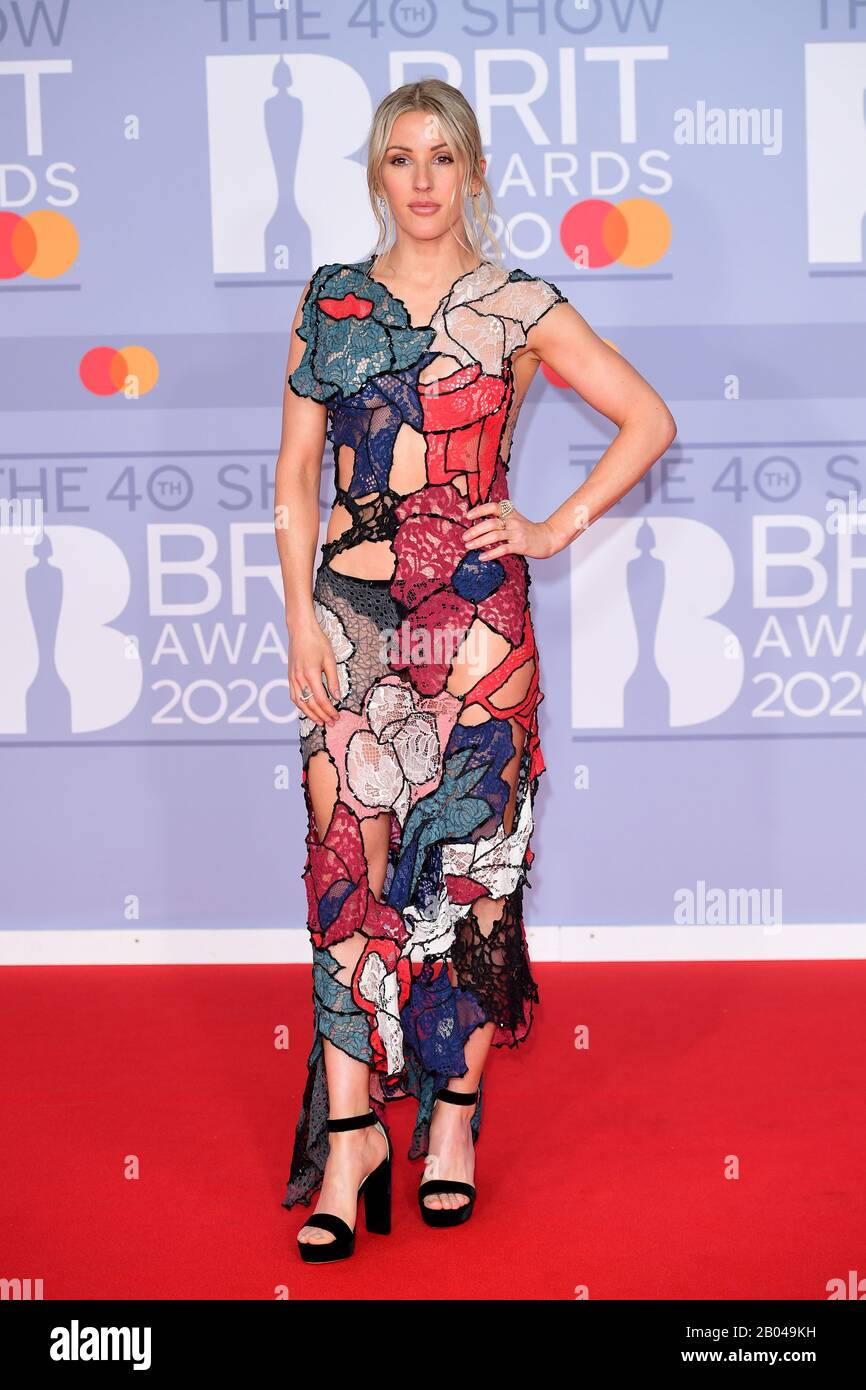 Ellie Goulding arriving at the Brit Awards 2020 held at the O2 Arena,  London Stock Photo - Alamy
