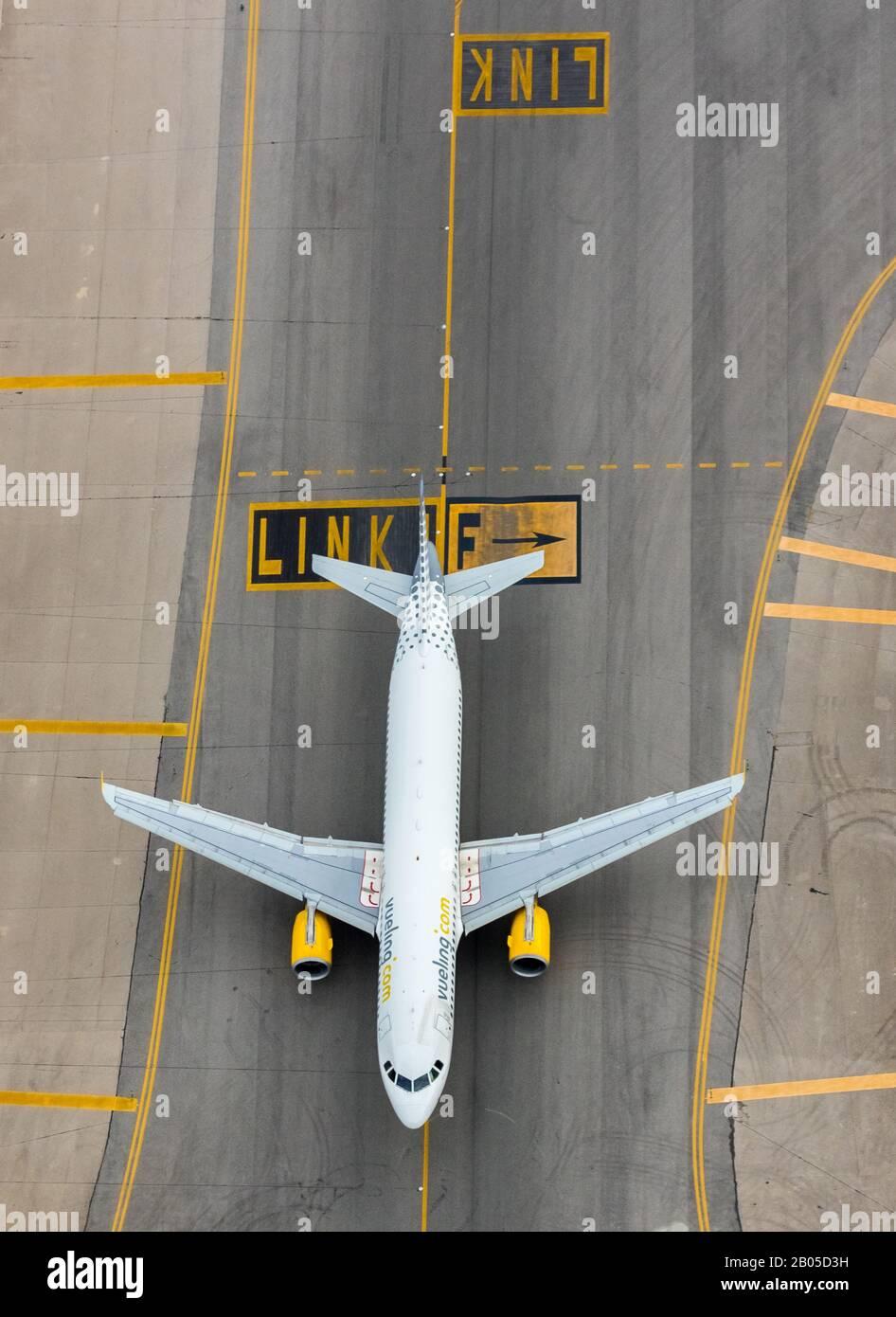 Aeroport de Palma, 09.01.2020, aerial photo, Spain, Balearic Islands, Majorca, Palma Stock Photo