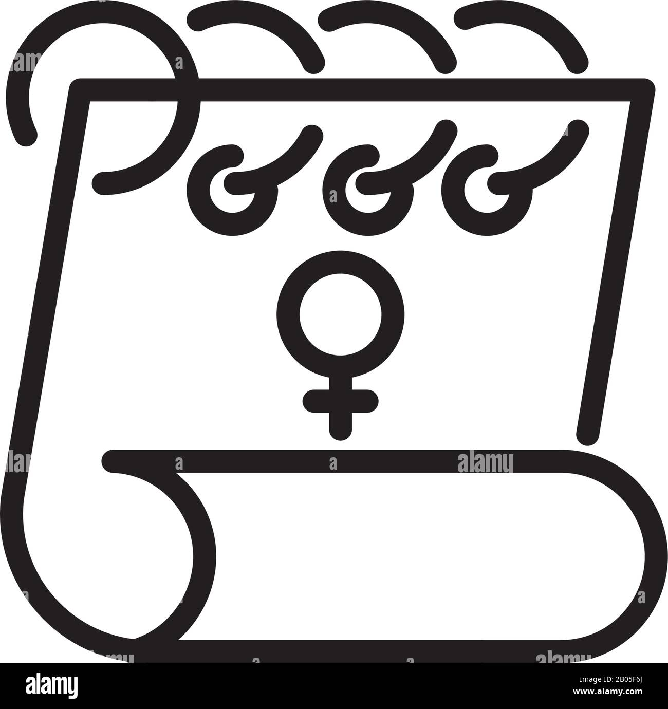 calendar with female gender symbol over white background line style icon vector illustration stock vector image art alamy alamy