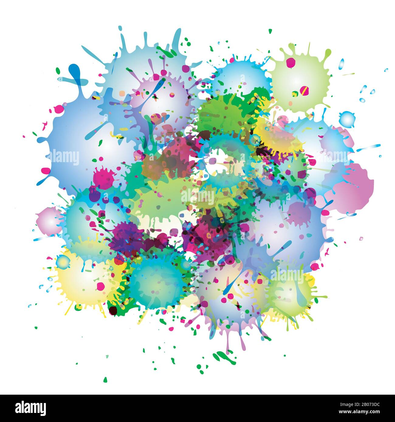 Multicolored watercolor paint splatters vector abstract background. Colorful abstract stain illustration Stock Vector