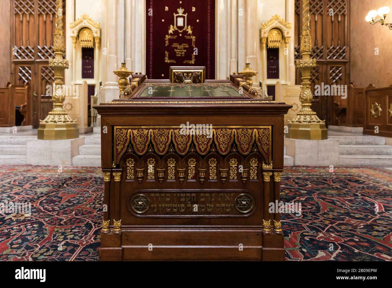 Budapest, Hungary - 25 April 2019: View of the interior of the synagogue in Budapest, Hungary Stock Photo