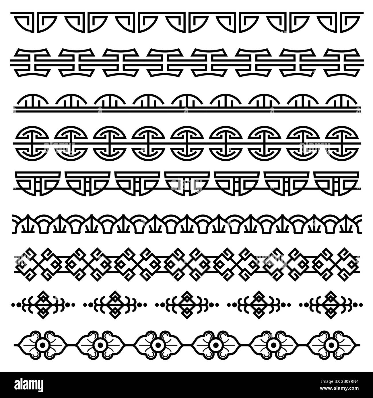 Chinese Decoration Traditional Antique Korean Pattern Vector