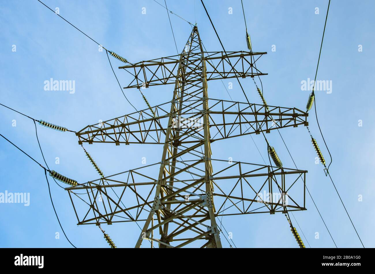 Power Transmission Tower Closeup High Resolution Stock Photography And Images Alamy