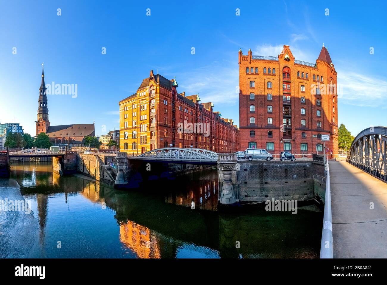 "Historcial ""Speicherstadt"" in Hamburg, Germany Stock Photo"