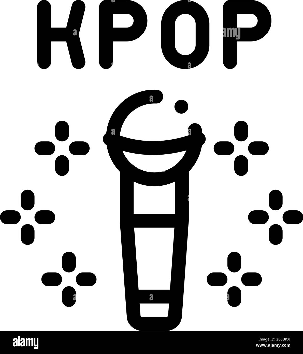 Kpop Microphone Icon Vector Outline Illustration Stock Vector Image Art Alamy