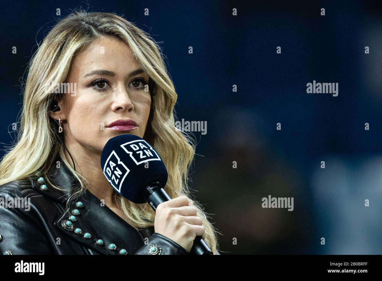 Diletta Leotta Dazn During Atalanta Vs As Roma Bergamo Italy 15 Feb 2020 Soccer Italian Serie A Soccer Match Stock Photo Alamy